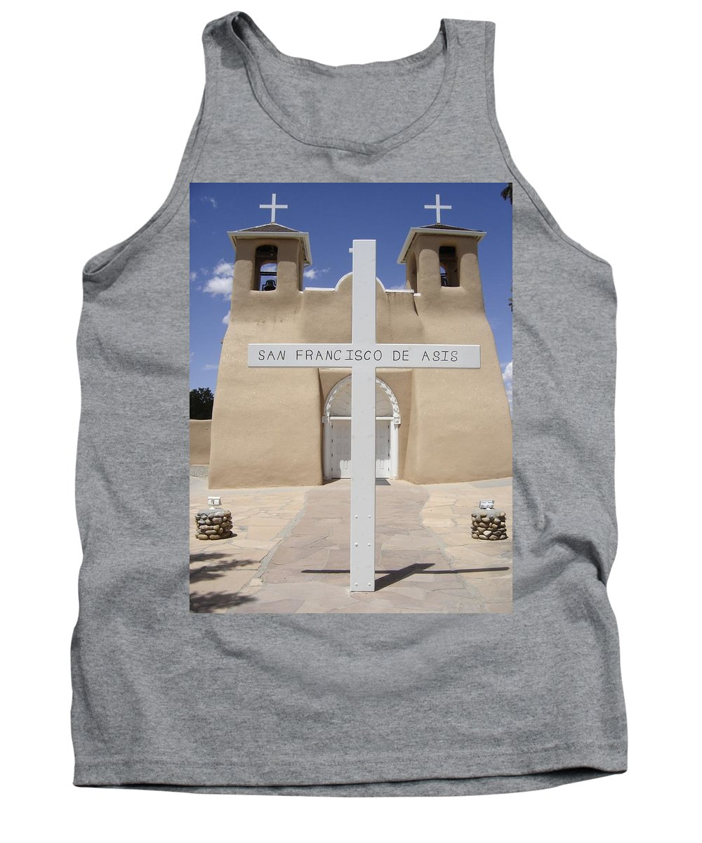 Ansel Adams Tank Top featuring the photograph Ranchos De Taos by Mary Rogers