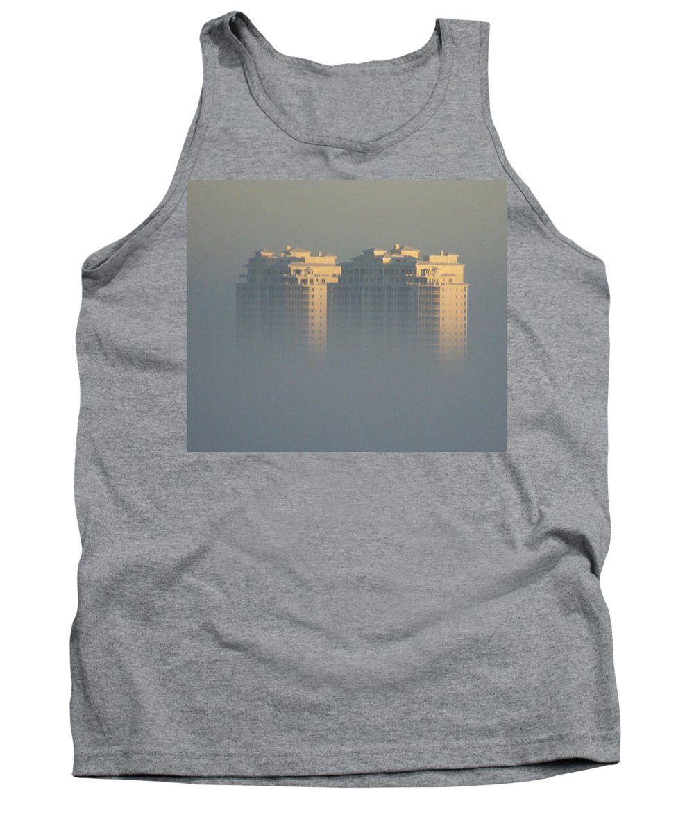 Raptor Bay Tank Top featuring the photograph Raptor Bay Morning Mist by Laurie Paci