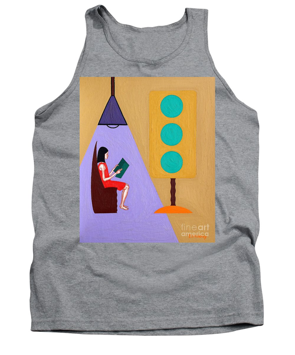 Reader Tank Top featuring the painting Reader by Patrick J Murphy