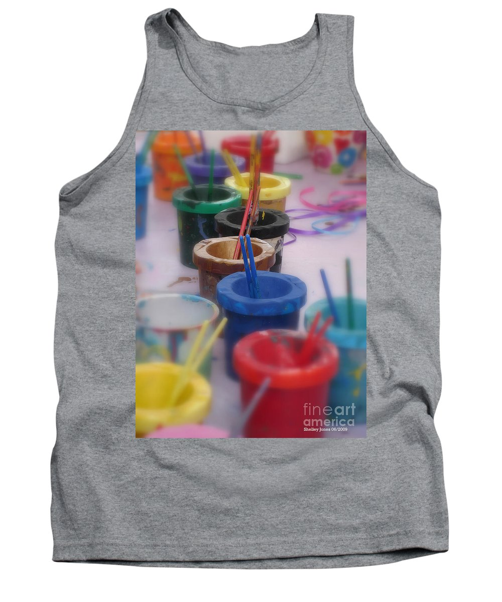 Painting Tank Top featuring the photograph Ready  Set  Paint by Shelley Jones