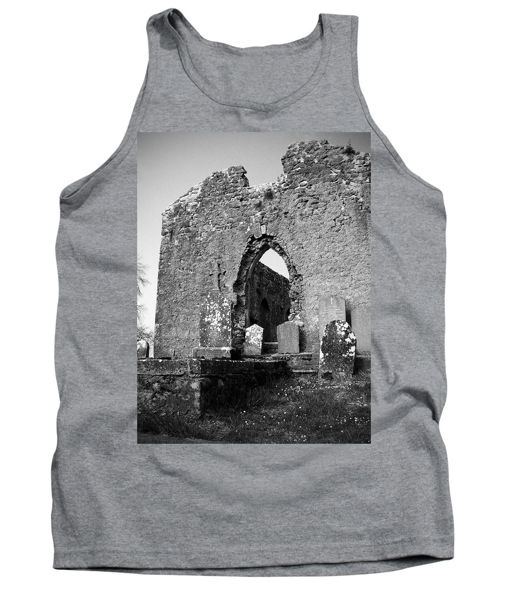 Ireland Tank Top featuring the photograph Rear Entrance Fuerty Church Roscommon Ireland by Teresa Mucha