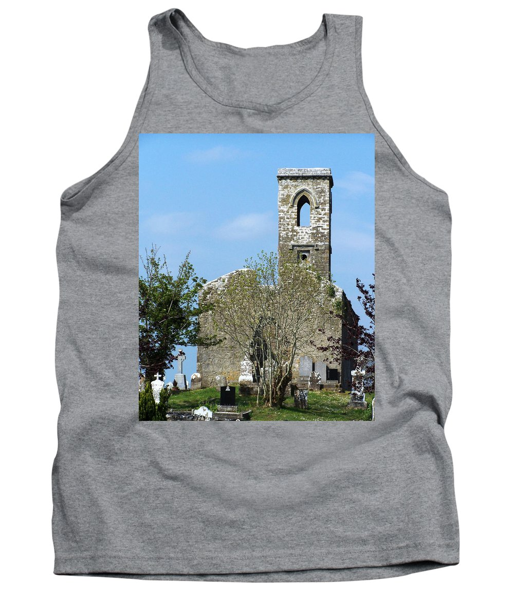 Fuerty Tank Top featuring the photograph Rear View Fuerty Church And Cemetery Roscommon Ireland by Teresa Mucha