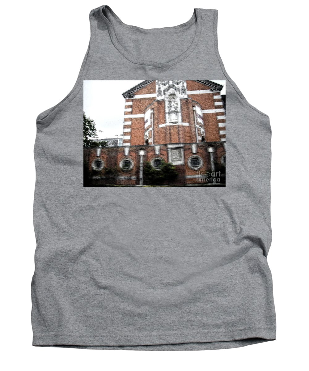 Architecture Tank Top featuring the photograph Red And White by Janelle Dey