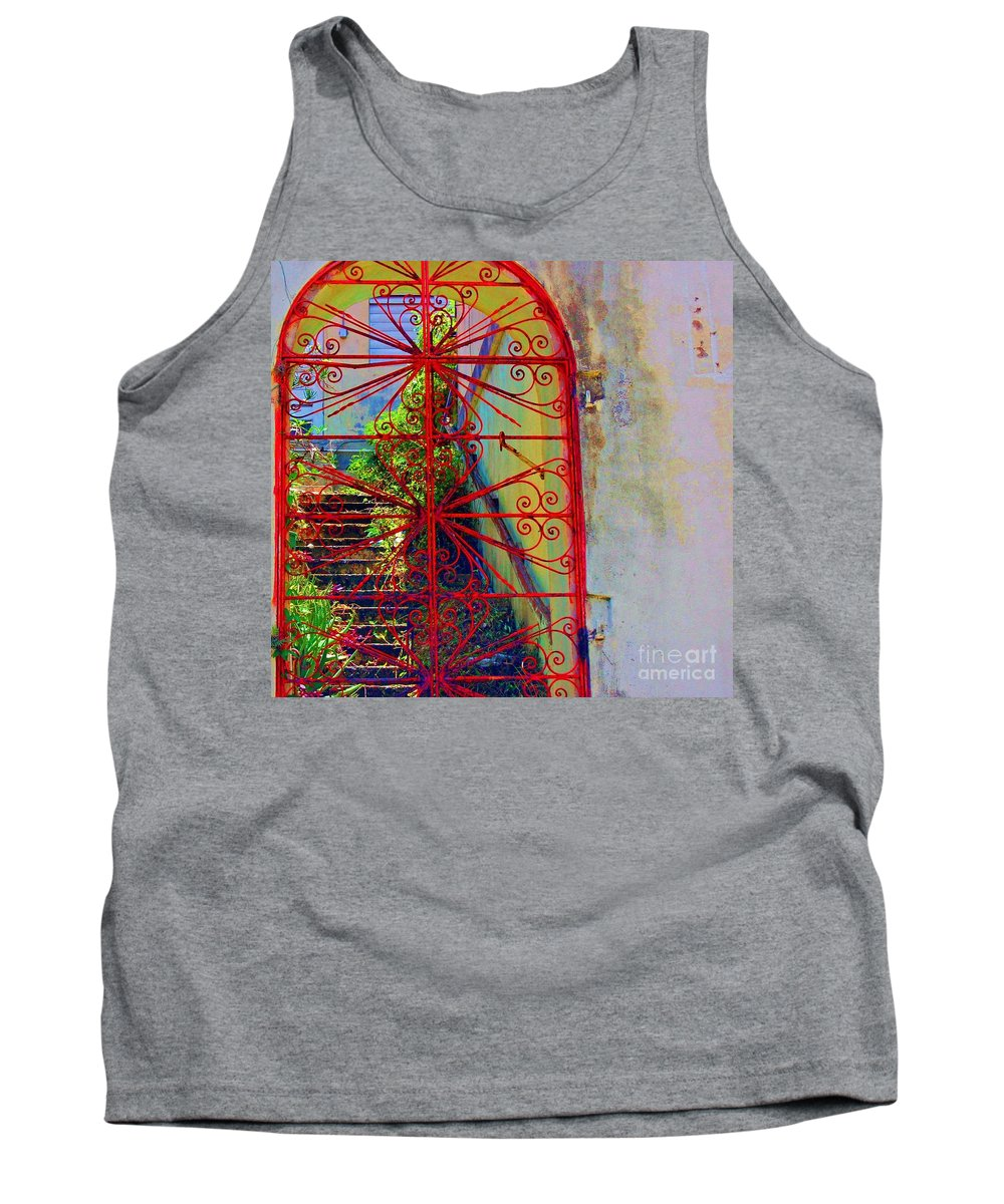 Gate Tank Top featuring the photograph Red Gate by Debbi Granruth
