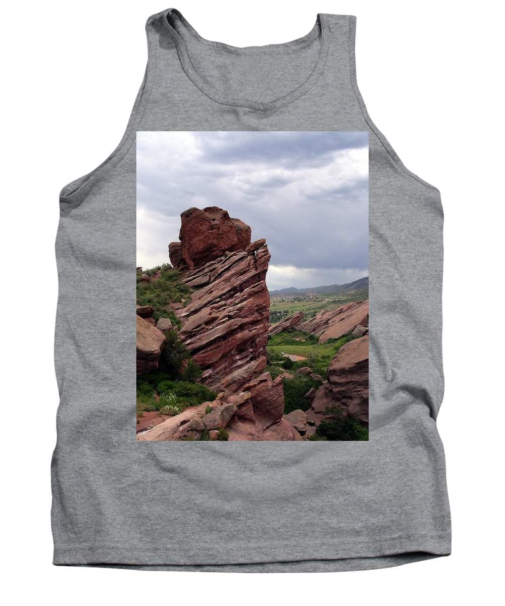 Red Rocks Tank Top featuring the photograph Red Rocks Colorado by Merja Waters