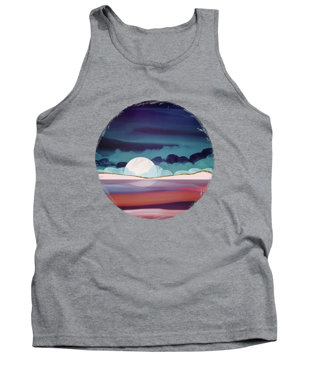 Red Tank Top featuring the digital art Red Sea by Spacefrog Designs