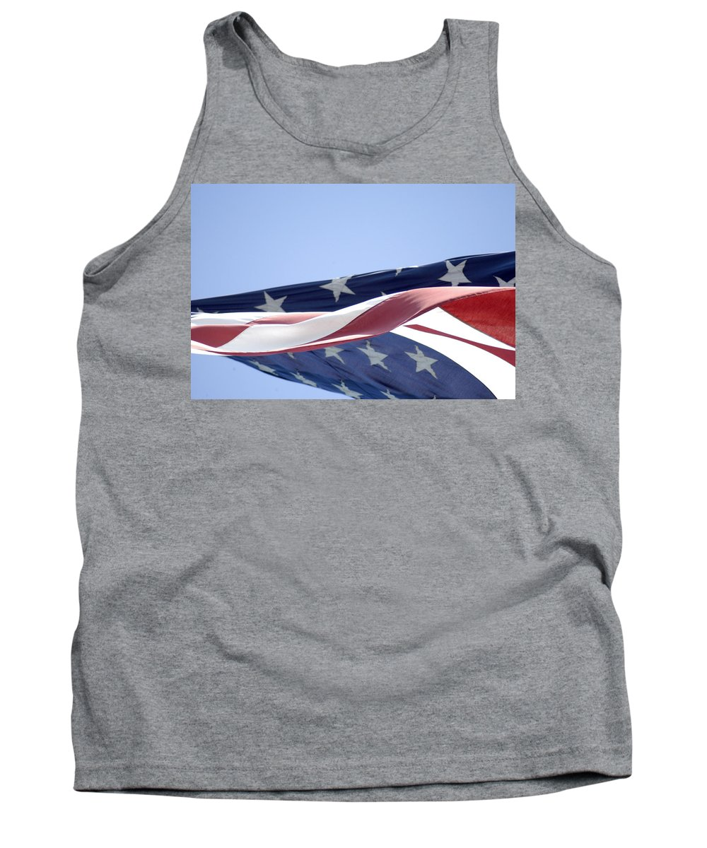 United States Flag Tank Top featuring the photograph Red White And Blue - American Flag by D'Arcy Evans