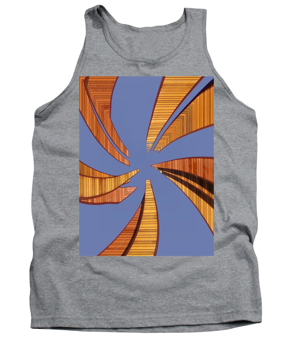 Seattle Tank Top featuring the digital art Reeds 2 by Tim Allen