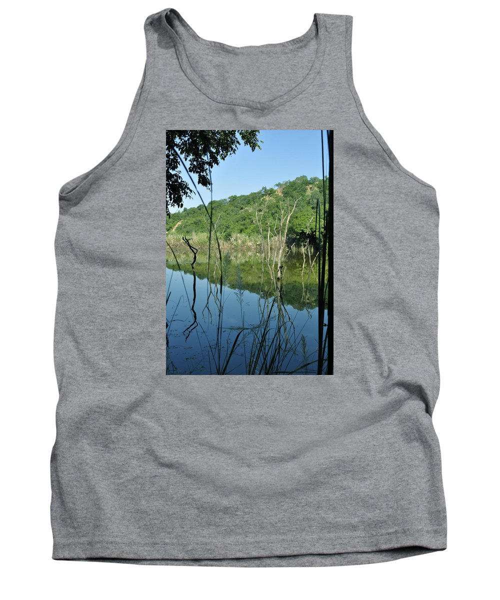Nature Tank Top featuring the photograph Reflected Lines by Bliss Of Art