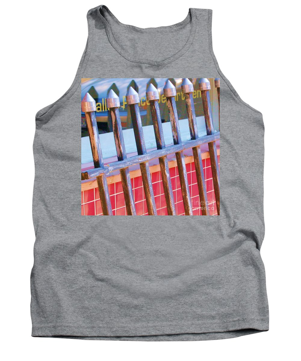 Gate Tank Top featuring the photograph Reflections by Debbi Granruth