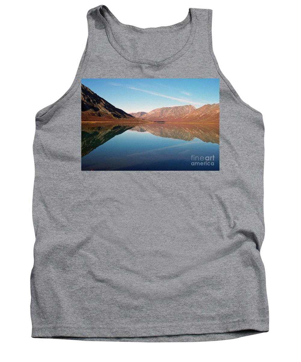 Lake Tank Top featuring the photograph Mountains Reflected On A Beautiful Lake by Denise McAllister