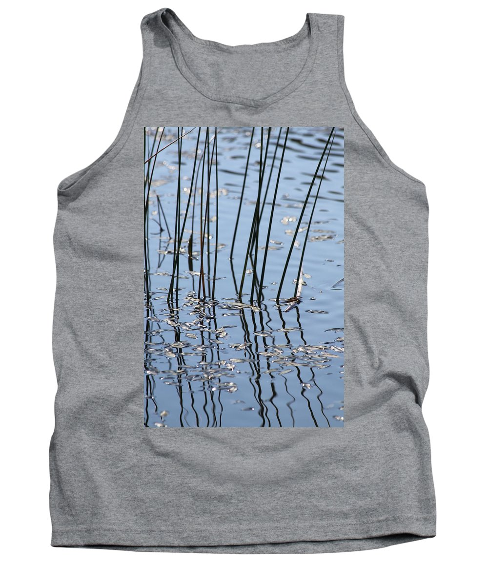 Pond Tank Top featuring the photograph Reflections by Lauri Novak