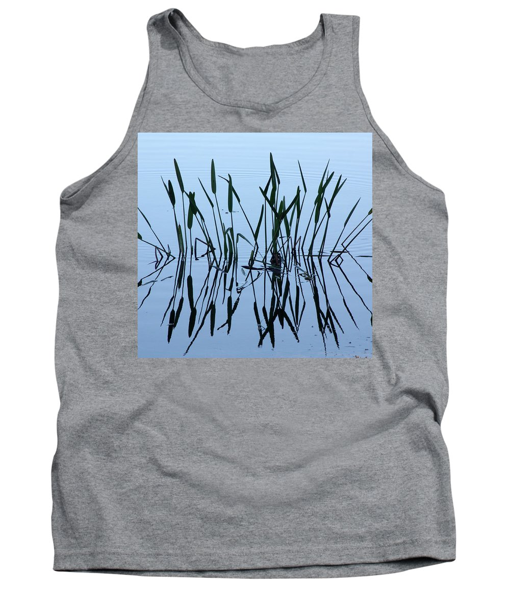 Pond Tank Top featuring the photograph Reflections by Tamivision