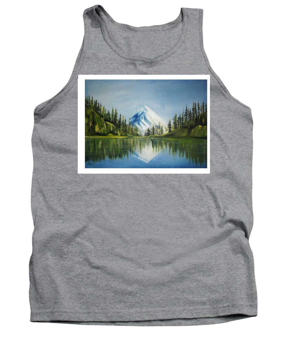 Oil Tank Top featuring the painting Reflexion 2 by Olaoluwa Smith