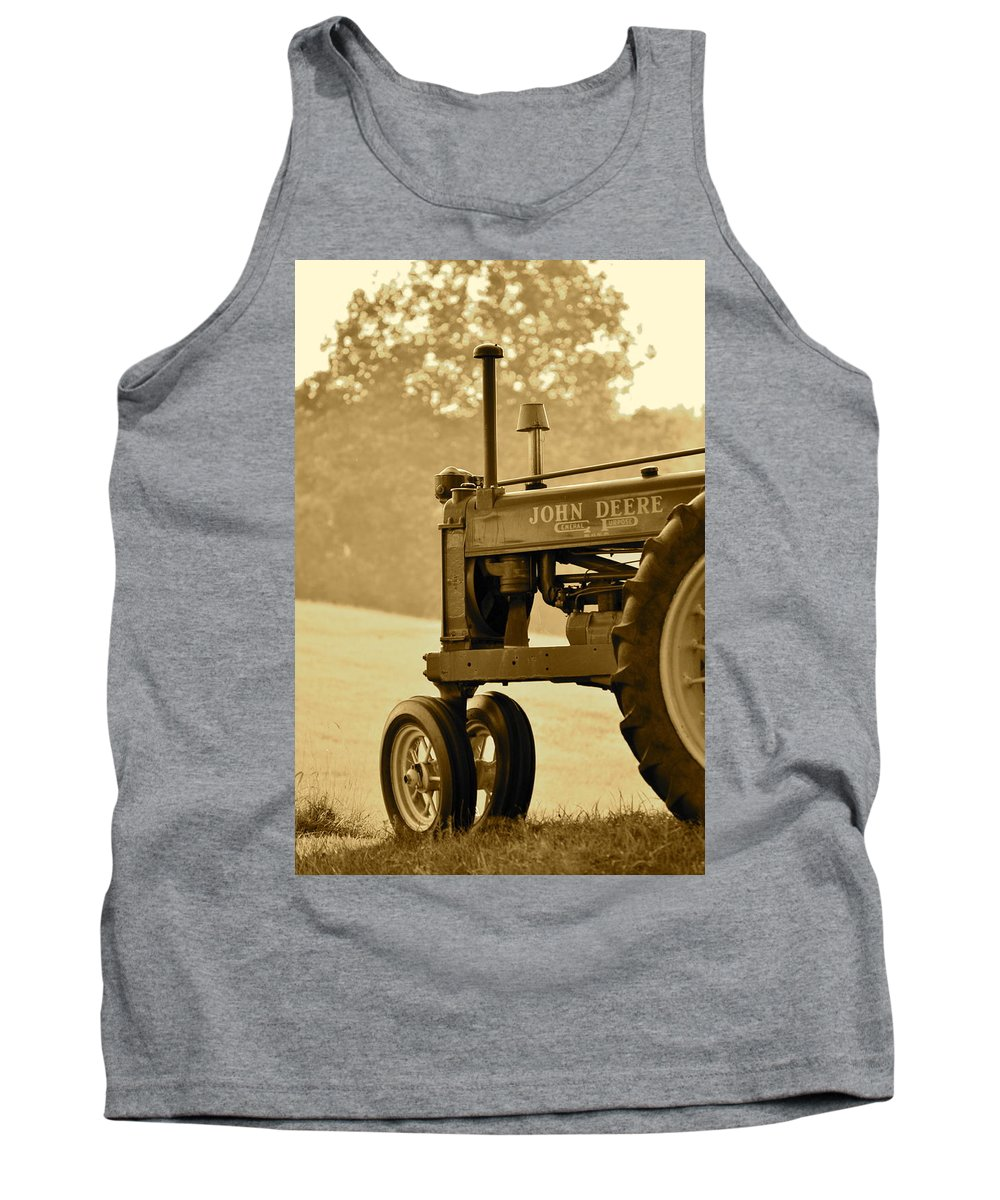 J.d. Grimes Tank Top featuring the photograph Resting In Sepia by JD Grimes