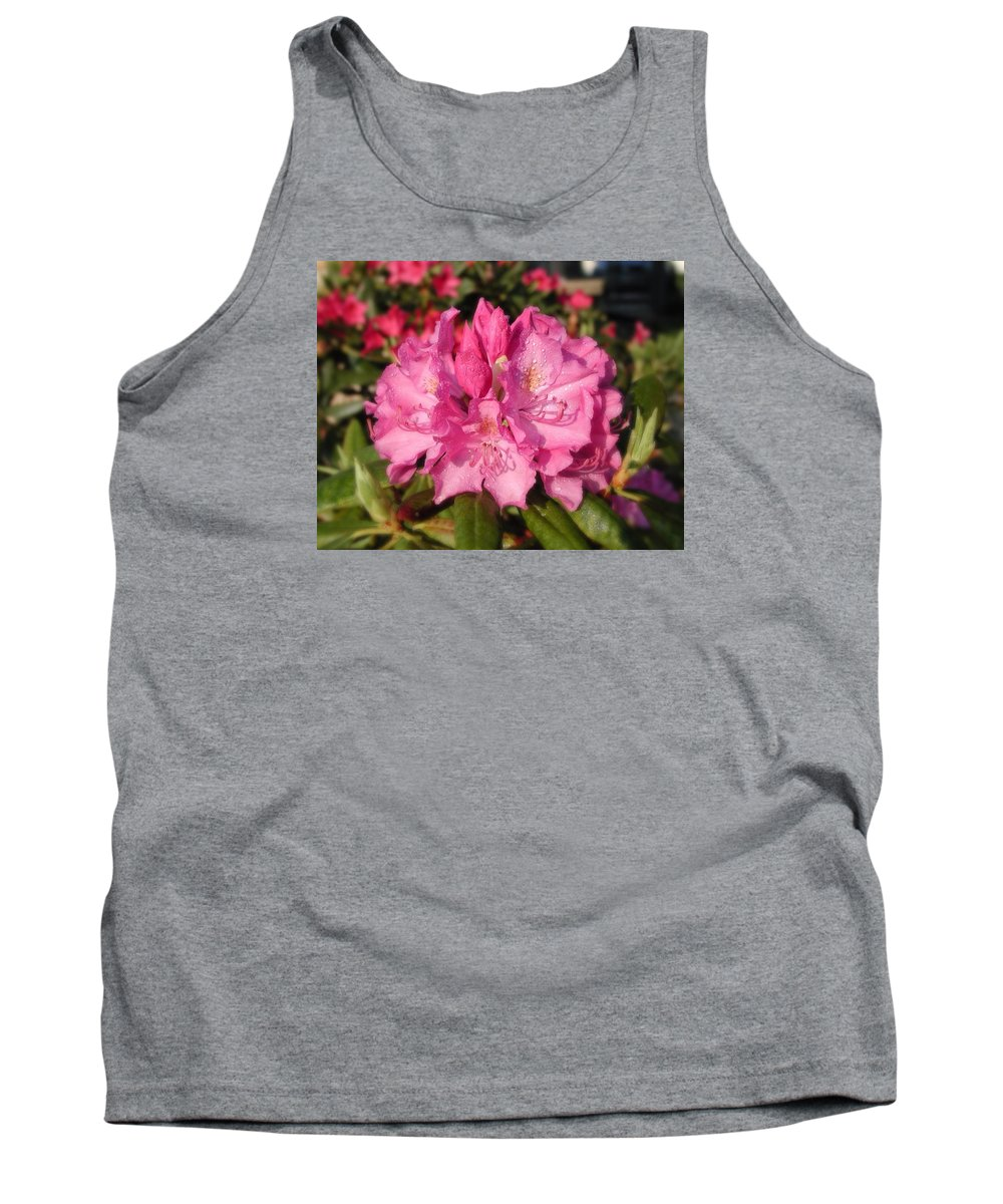 Flower Tank Top featuring the photograph Rhodendrum by Beth Tidd
