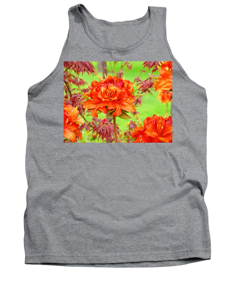 Rhodie Tank Top featuring the photograph Rhododendron Flower Landscape Art Prints Floral Baslee Troutman by Baslee Troutman