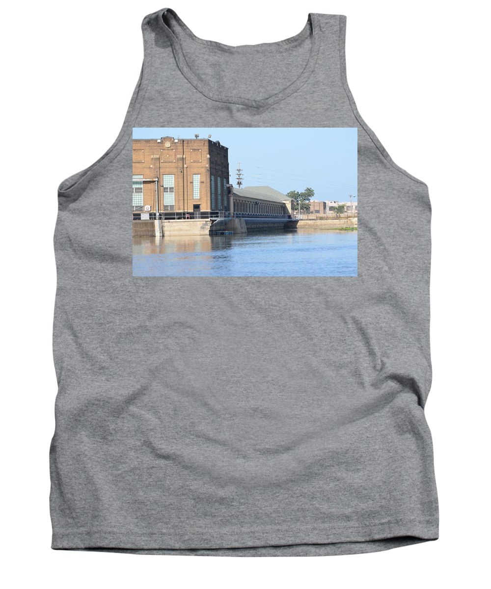 Rock Island Arsenal Power Plant Tank Top featuring the photograph Ria Power Plant by Tammy Mutka