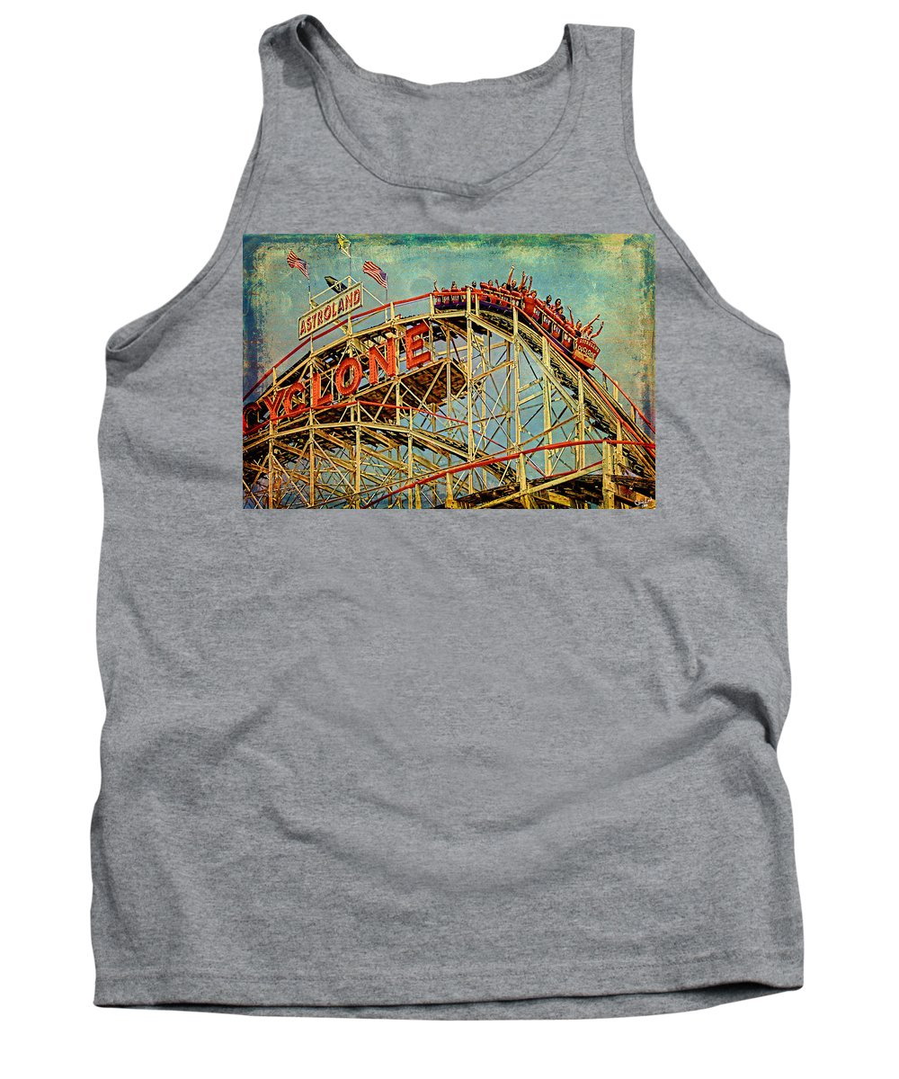 Cyclone Tank Top featuring the photograph Riding The Cyclone by Chris Lord