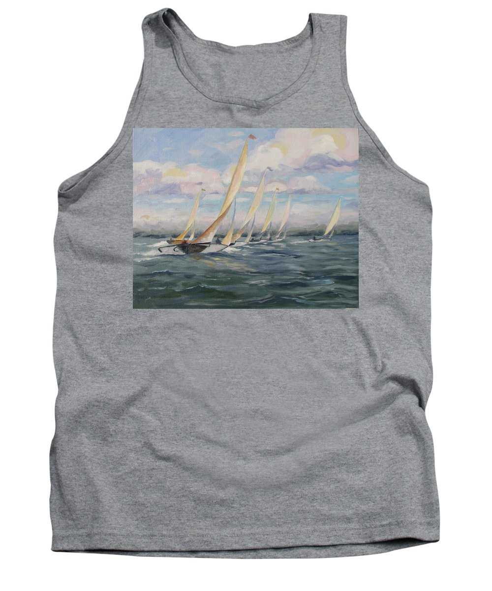 Riding Waves Tank Top featuring the painting Riding The Waves by Jay Johnson