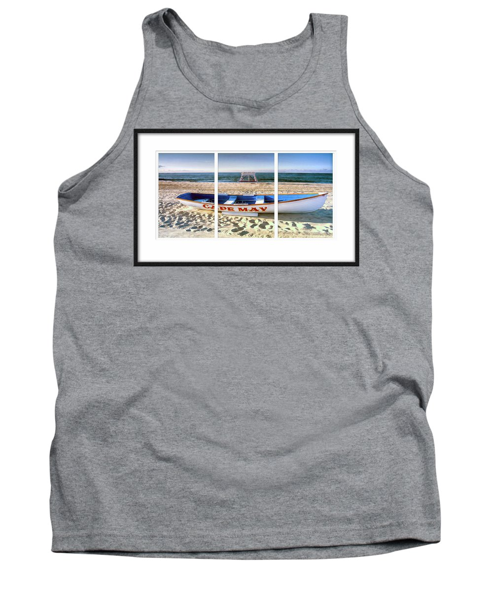 Recent Tank Top featuring the photograph Cape May Beach Scene Series by Geraldine Scull