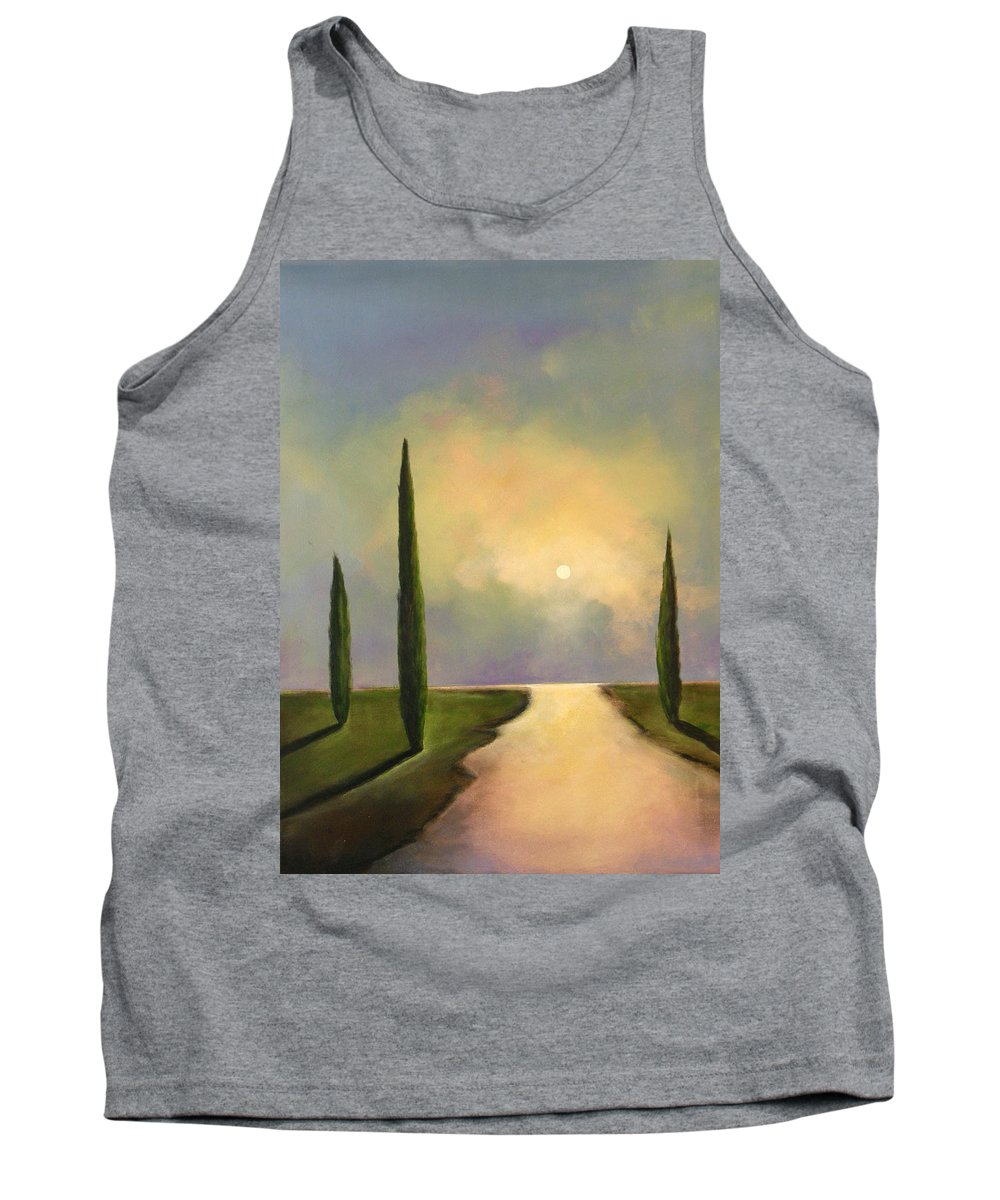 Trees Tank Top featuring the painting River Dreams by Toni Grote