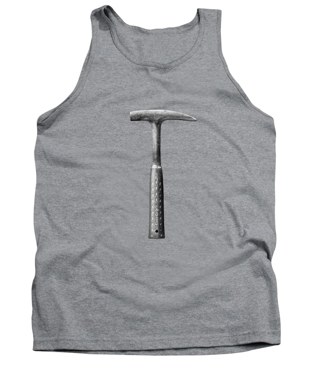 Art Tank Top featuring the photograph Rock Pick On Plywood 64 In Bw by YoPedro