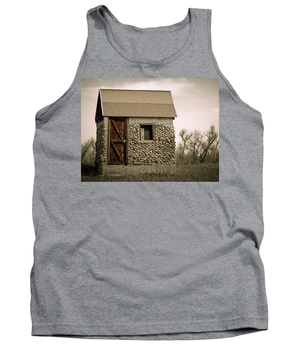 Americana Tank Top featuring the photograph Rock Shed 2 by Marilyn Hunt