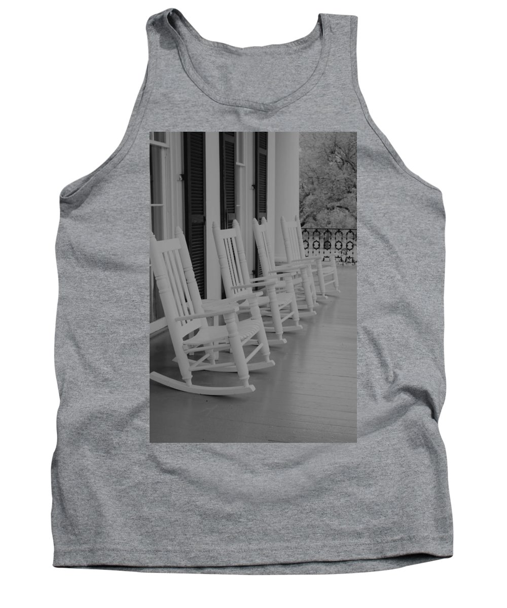 Tank Top featuring the photograph Rocking Chairs by Jaime Gaspard