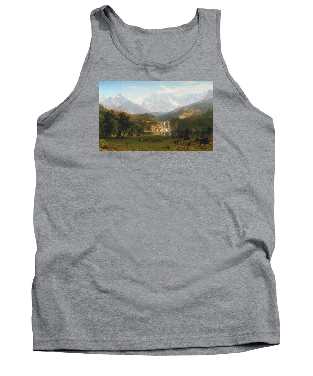 Rocky Mountains Tank Top featuring the painting Rocky Mountains by Albert Bierstadt