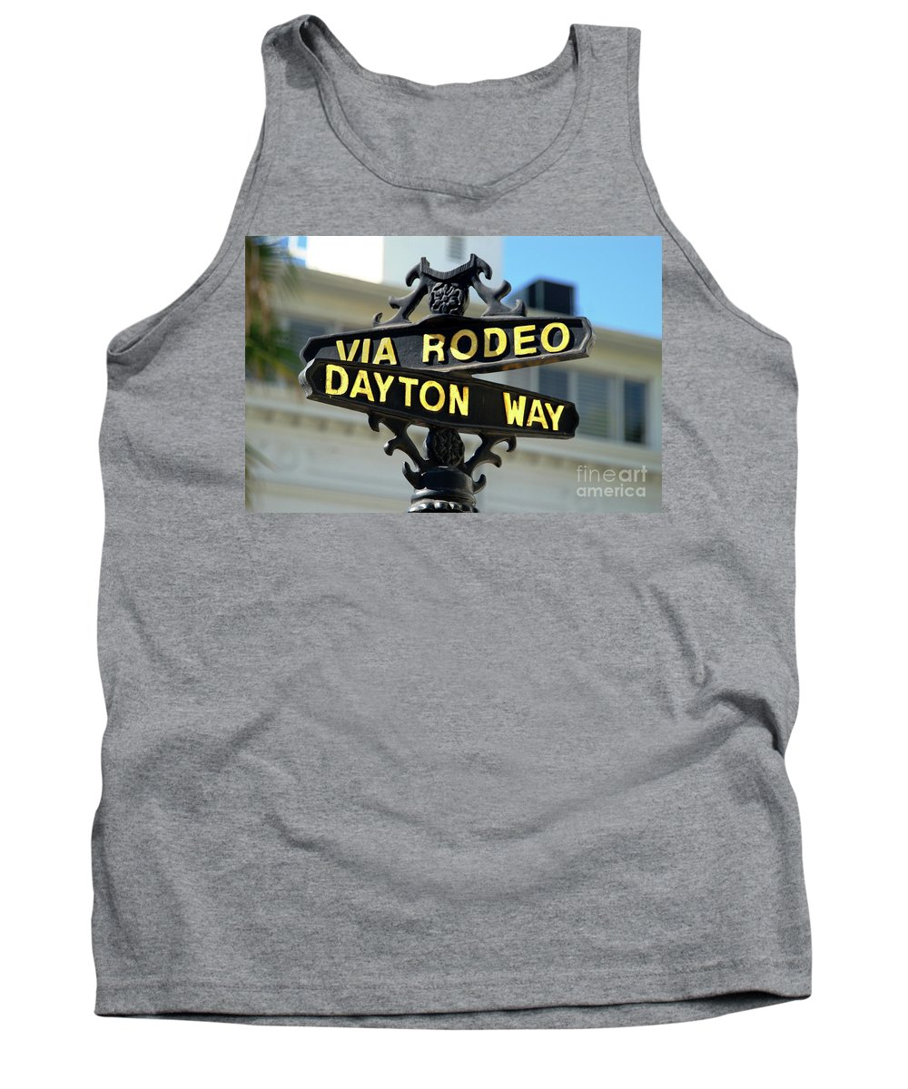 Rodeo Drive Tank Top featuring the photograph Rodeo Drive In Beverly Hills by Mariola Bitner