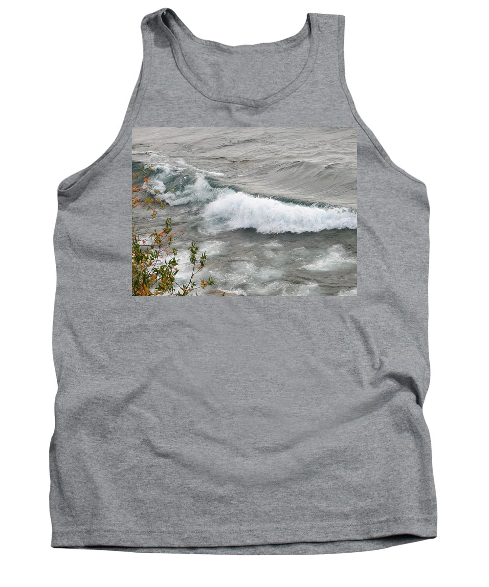 Wave Tank Top featuring the photograph Rolling by Kelly Mezzapelle