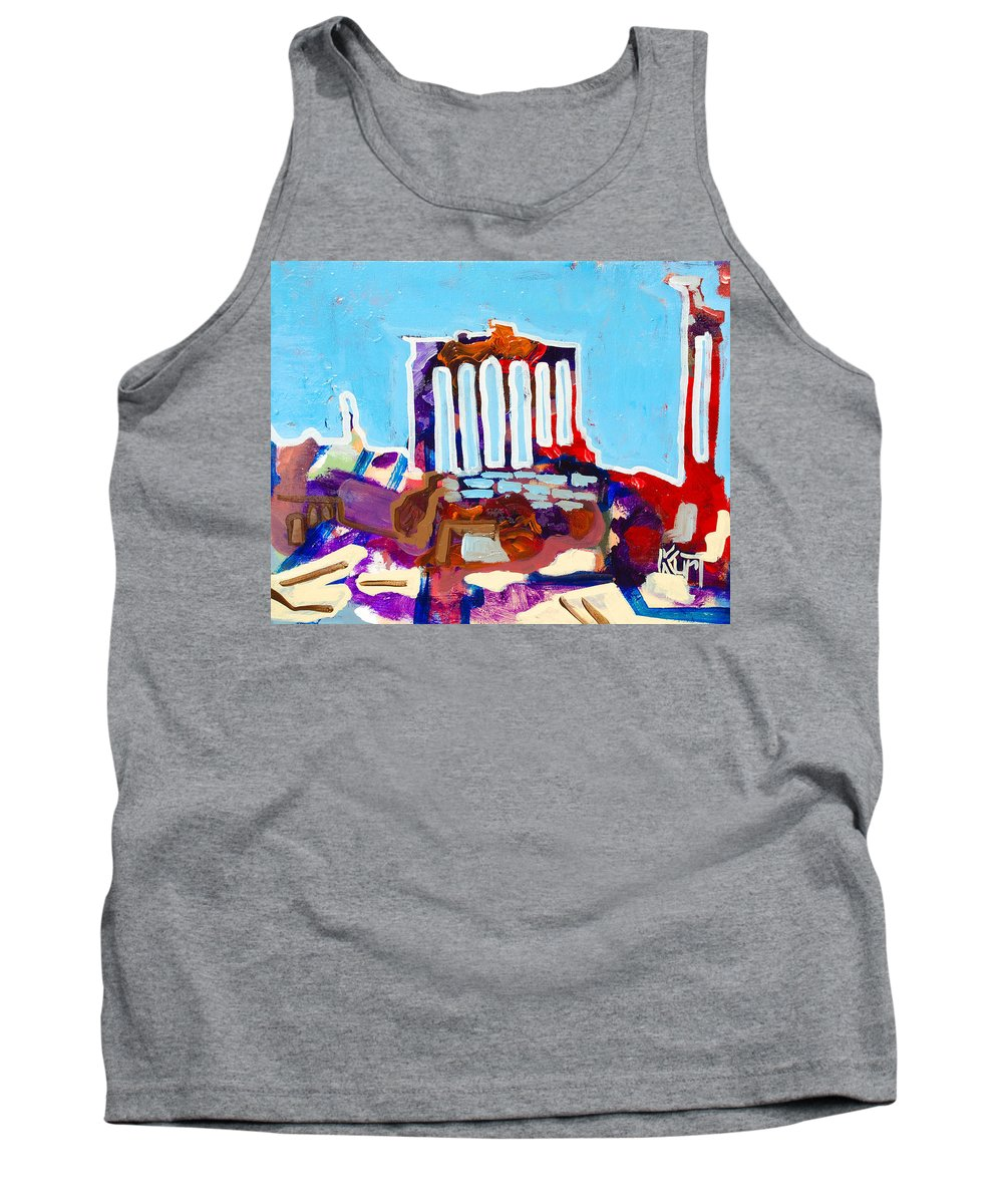 Rome Tank Top featuring the painting Rome by Kurt Hausmann