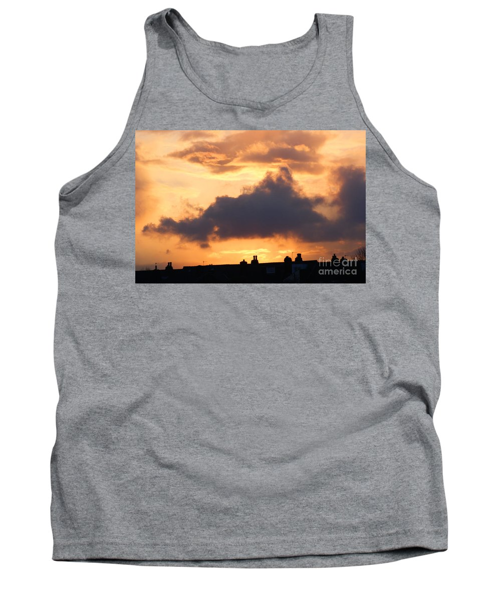 Sunset Tank Top featuring the photograph Rooftop Sunset 2 by Carol Lynch