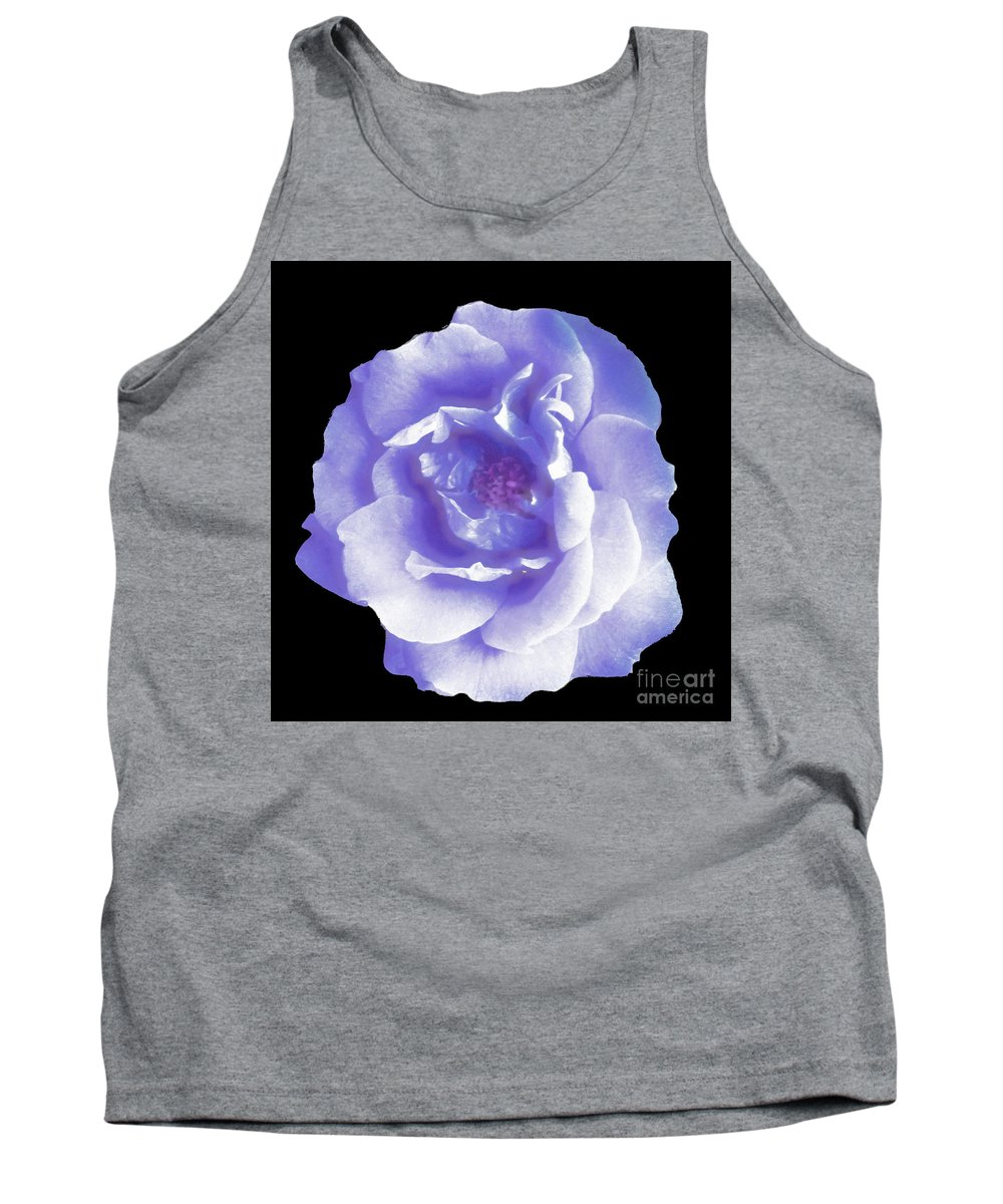 Abstract Tank Top featuring the digital art Rose 7 by John Krakora