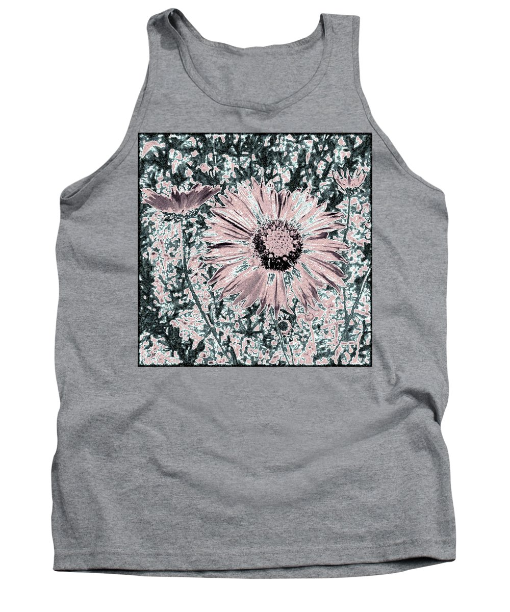 Daisies Tank Top featuring the digital art Rose Wine Daisies by Will Borden