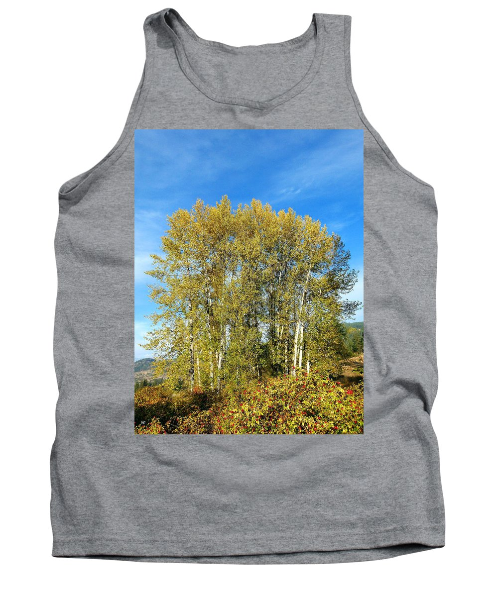 #rosehipsandcottonwoods Tank Top featuring the photograph Rosehips And Cottonwoods by Will Borden