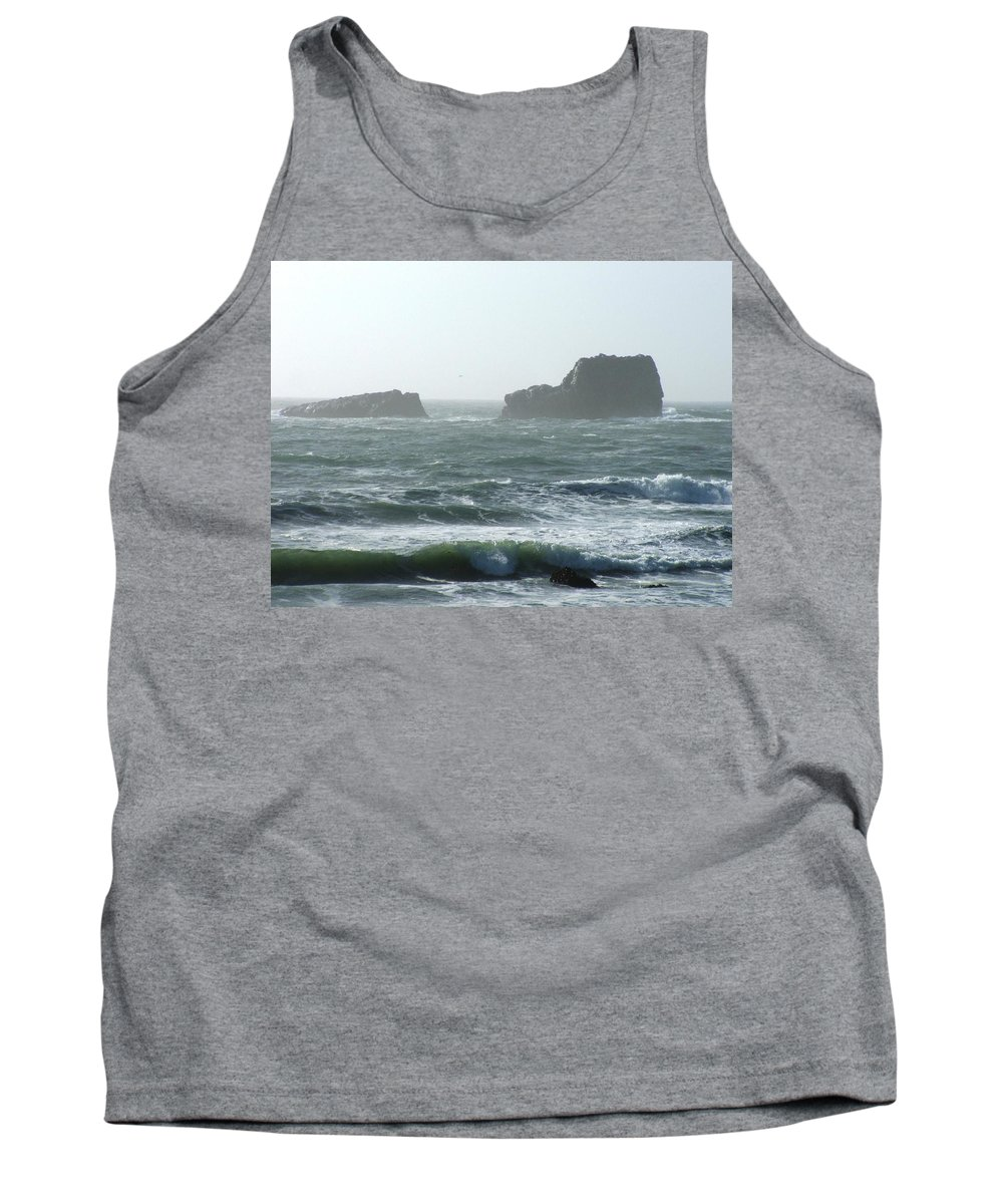 Oceanes Tank Top featuring the photograph Rough Waters by Shari Chavira