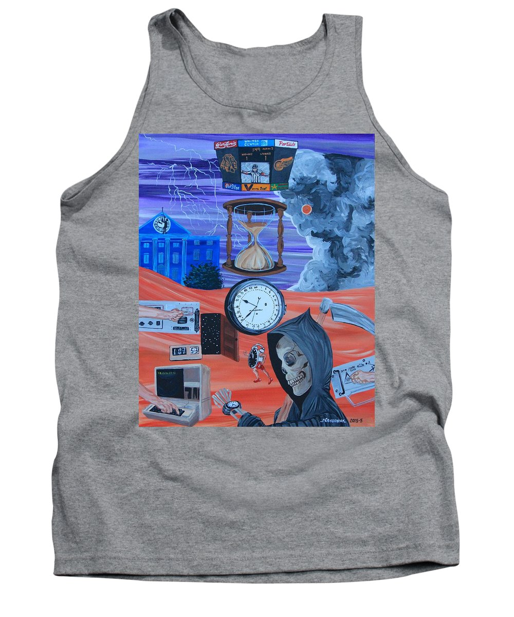 Mike Nahorniak Tank Top featuring the painting Running Out Of Time by Mike Nahorniak