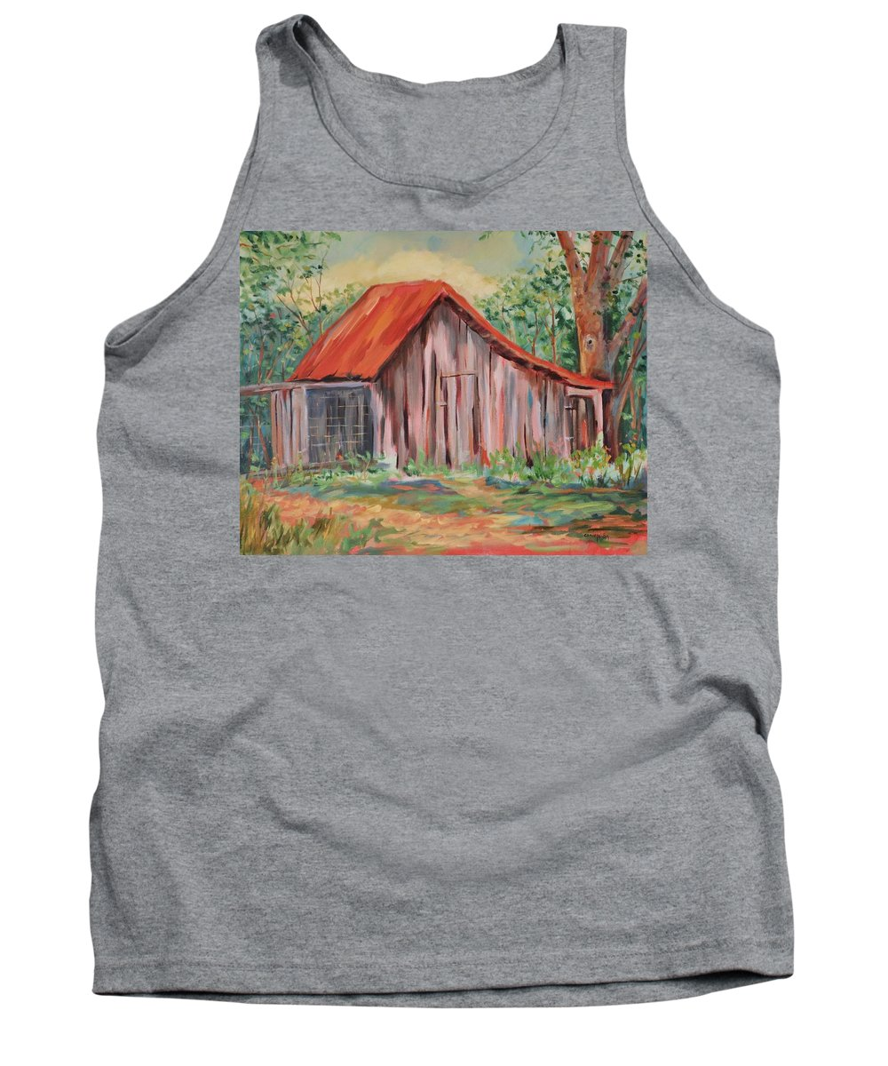 Chicken Coops Tank Top featuring the painting Russel Crow by Ginger Concepcion