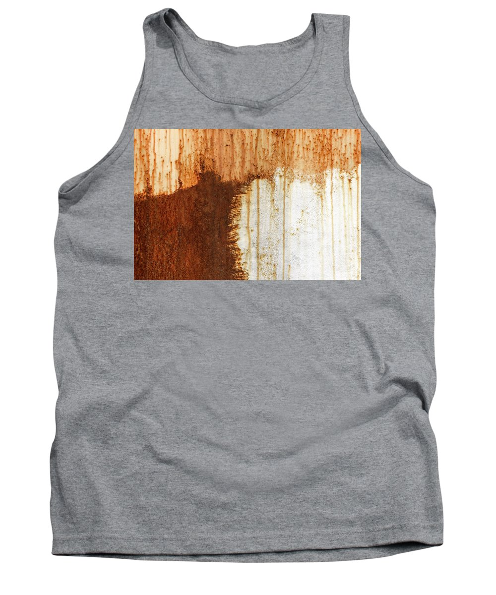 Abstract Tank Top featuring the photograph Rust 05 by Richard Nixon