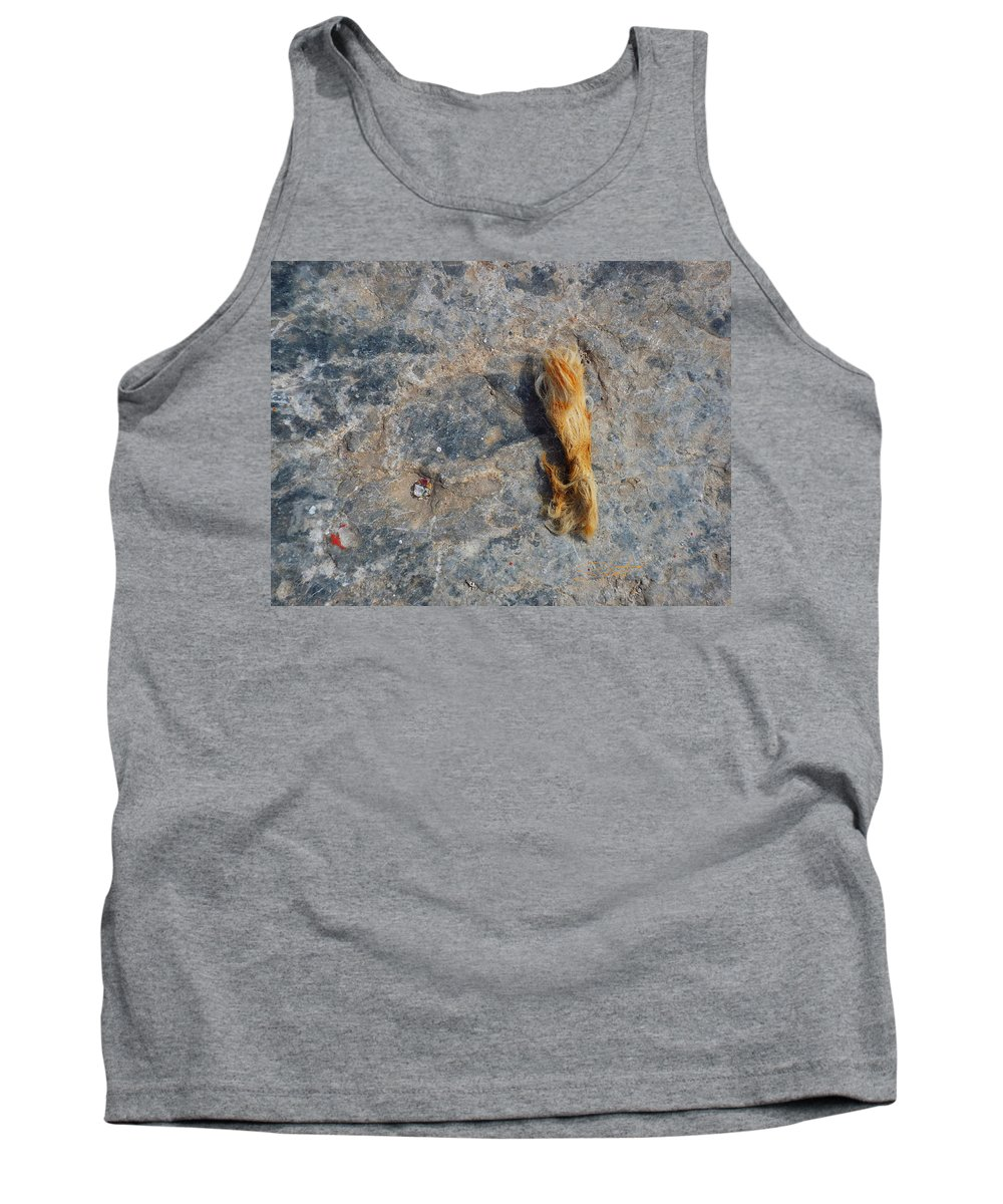 Fishing Net Tank Top featuring the photograph Rust In The Dust by Charles Stuart
