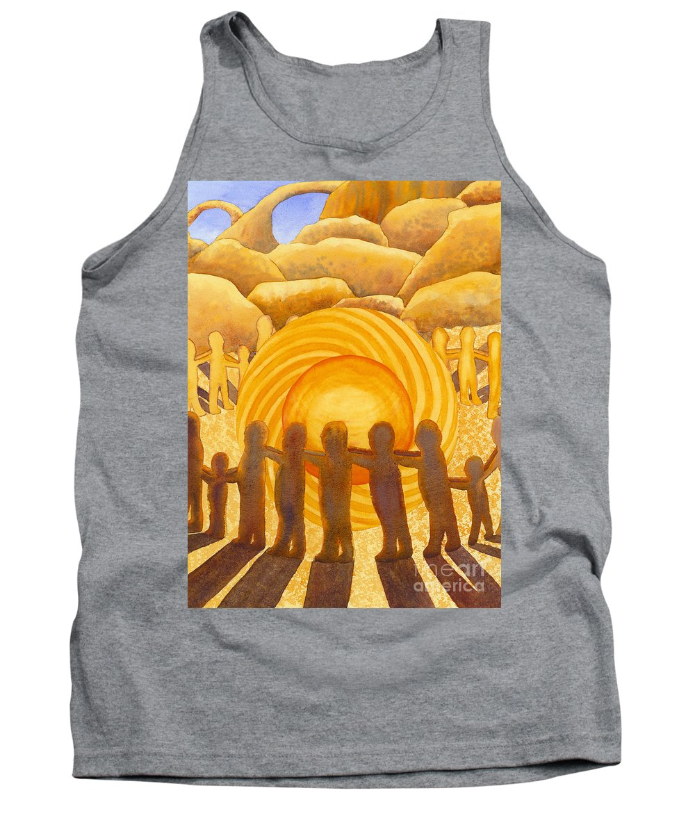 Chakra Tank Top featuring the painting Sacral Chakra by Catherine G McElroy