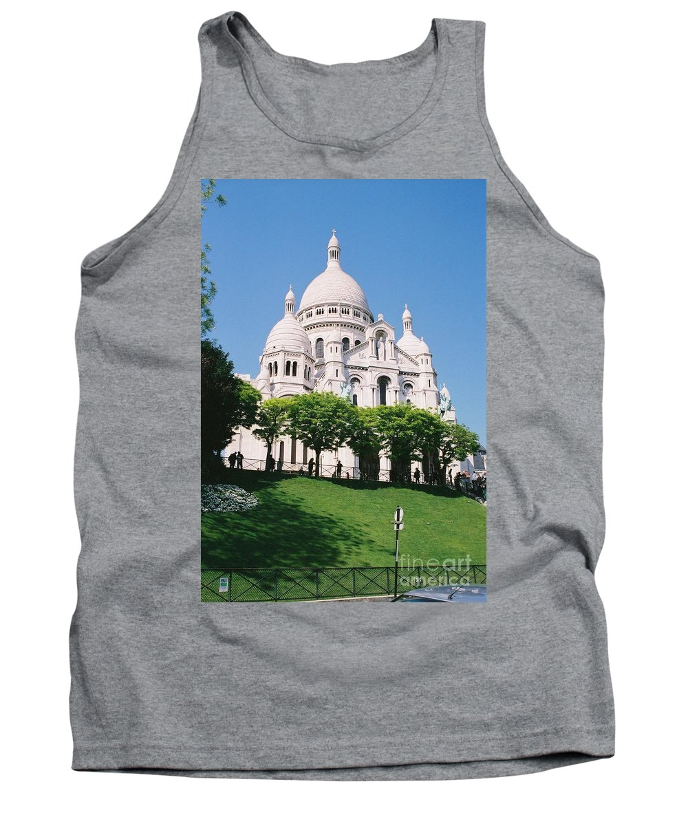 Church Tank Top featuring the photograph Sacre Coeur by Nadine Rippelmeyer