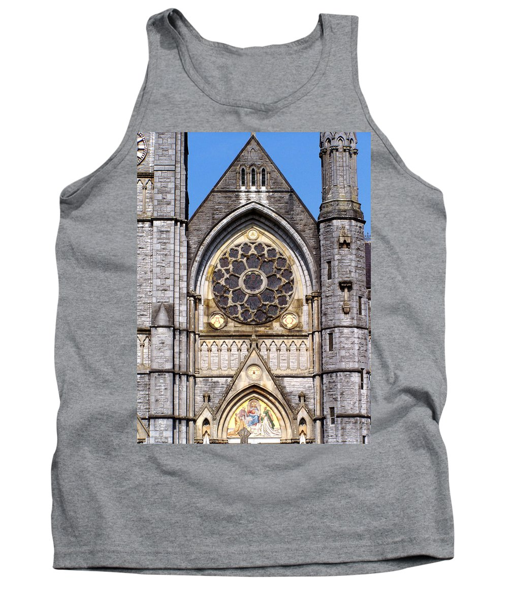 Ireland Tank Top featuring the photograph Sacred Heart Church Detail Roscommon Ireland by Teresa Mucha