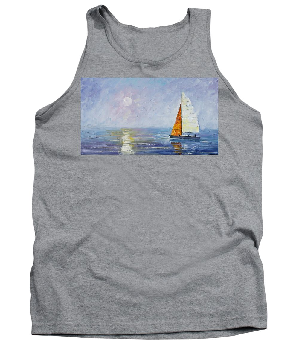Yahct Tank Top featuring the painting Sailing by Leonid Afremov