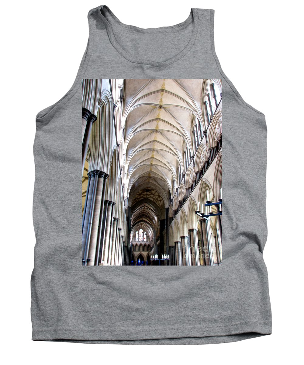 Salisbury Tank Top featuring the photograph Salisbury Cathedral by Amanda Barcon
