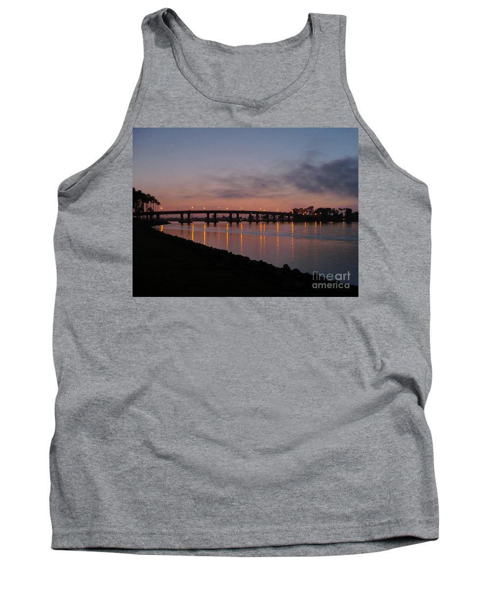 San Diego Tank Top featuring the photograph San Diego Sunset 1 by Carol Groenen