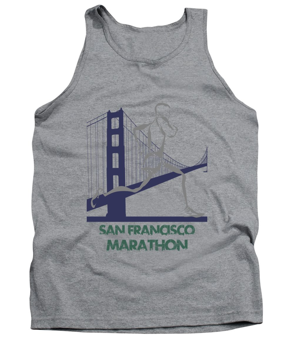 Runner Tank Top featuring the photograph San Francisco Marathon2 by Joe Hamilton