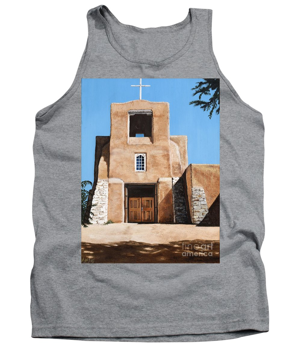 Art Tank Top featuring the painting San Miguel by Mary Rogers